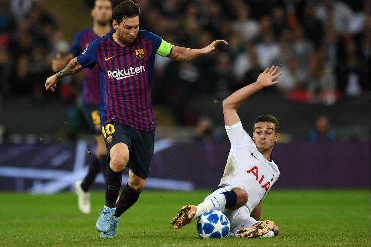 Lionel Messi anotó dos goles en el triunfo del Barcelona. Foto: EFE