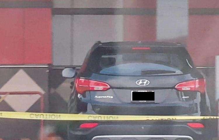 Vista general del vehículo de las víctimas que fue ubicado en Panamá.  Foto: Mayra Madrid