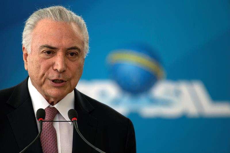 En la imagen, el presidente de Brasil, Michel Temer. EFE/Archivo