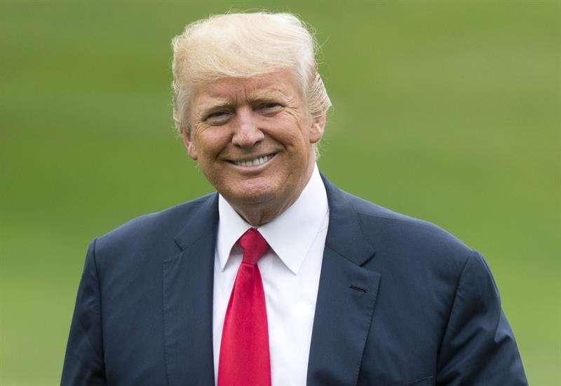 En la imagen un registro del presidente de Estados Unidos, Donald Trump. EFE