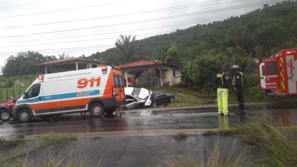 Los vehículos accidentados se dirigían desde la provincia de Panamá Oeste hacia la ciudad capital. Foto: TraficoCPanama