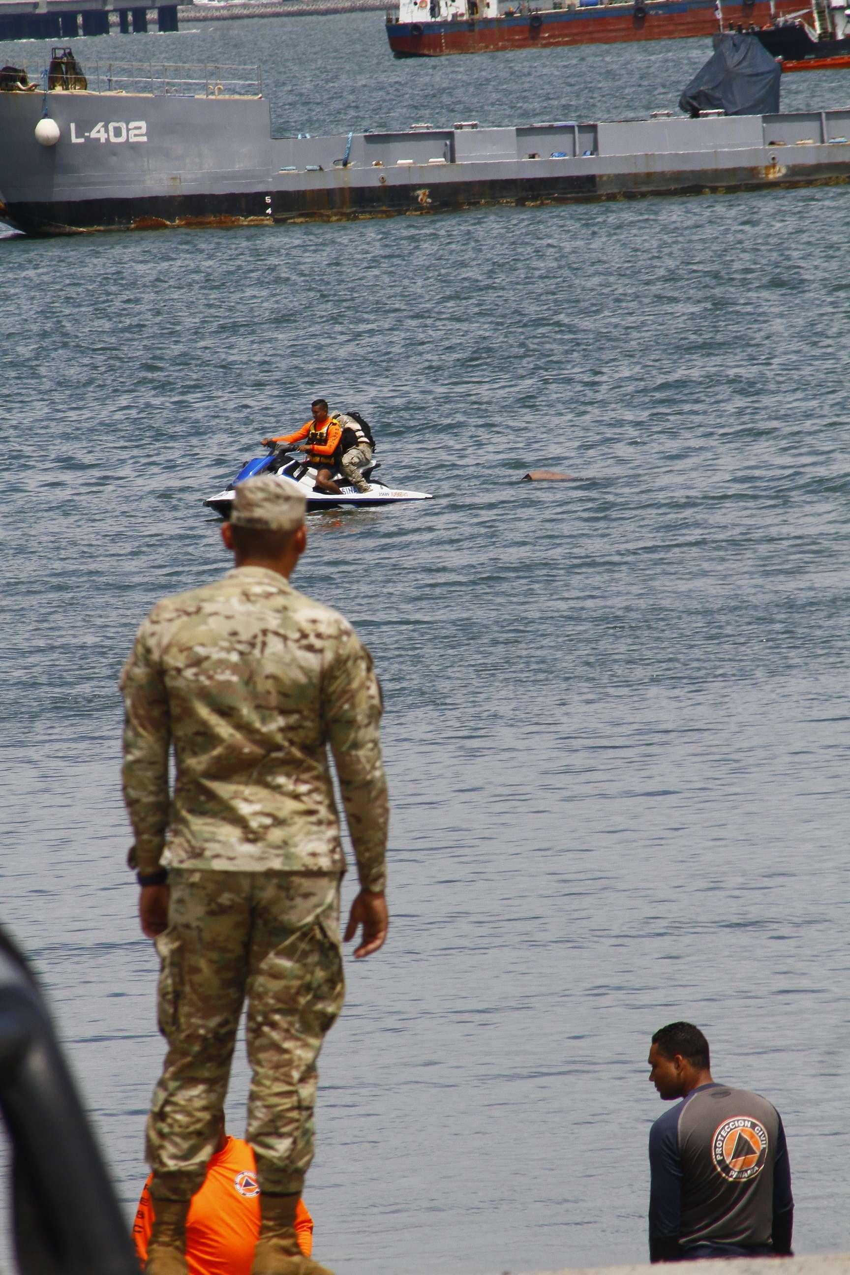 El cuerpo fue traslado hasta el muelle del astillero naval Rigoberto Castillo, ubicado en el área de Amador, para ser judicializado su levantamiento. Fue llevado a la Morgue Judicial en Ancón.