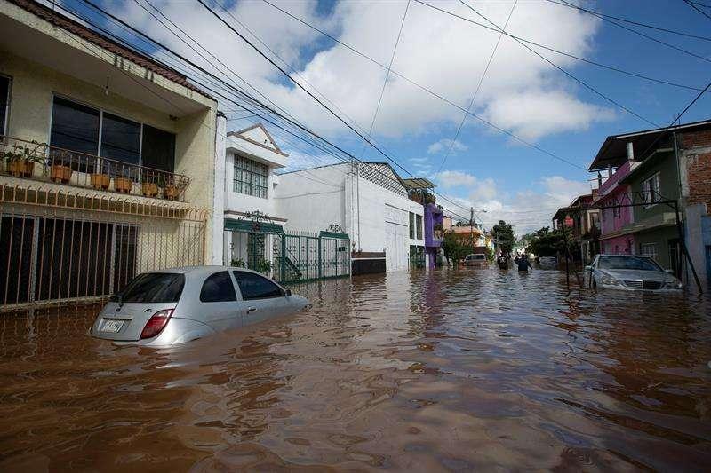 Vista general de las afectaciones de las tormentas por el huracán Willa. EFE