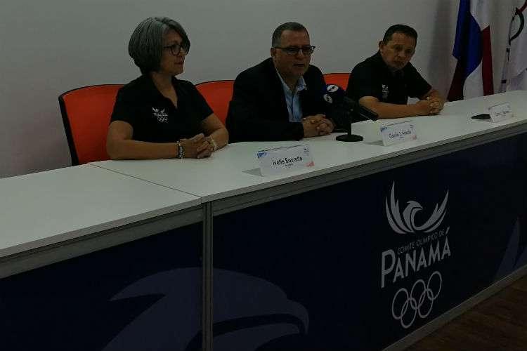 Camilo Amado, presidente del Comité Olímpico de Panamá (COP) durante el informe de los juegos. Foto: COP