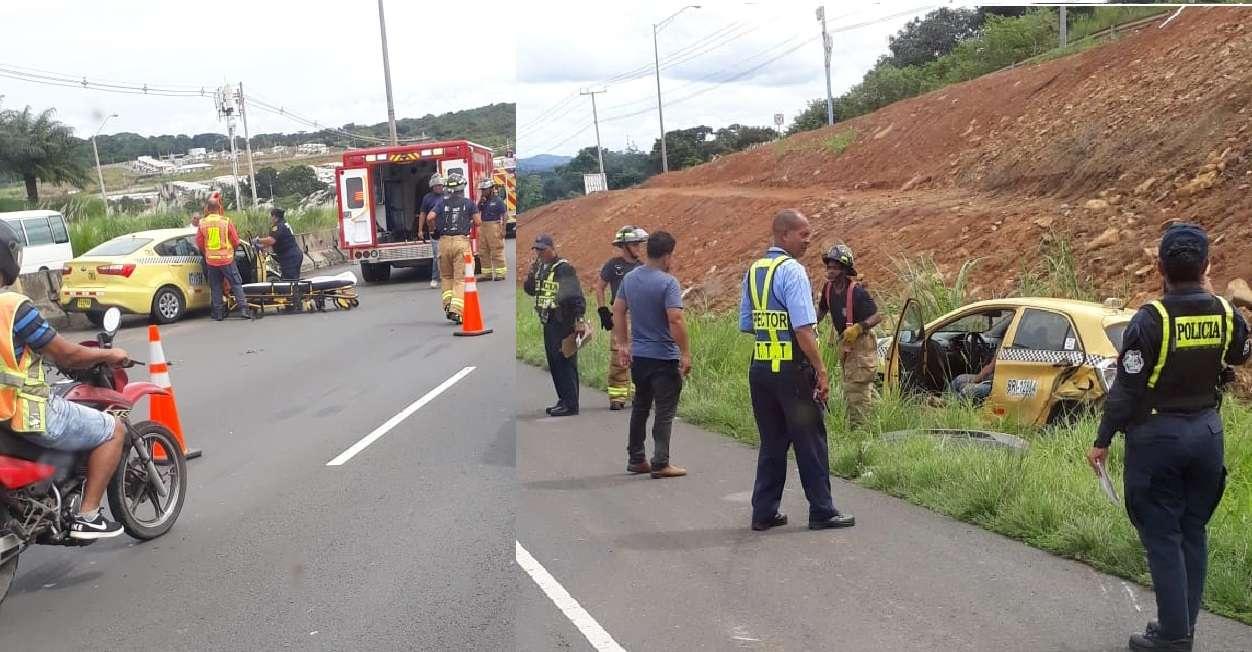 Vista general del accidente en ocurrido en la autopista Arraiján-La Chorrera. Foto: @TraficoCPanama