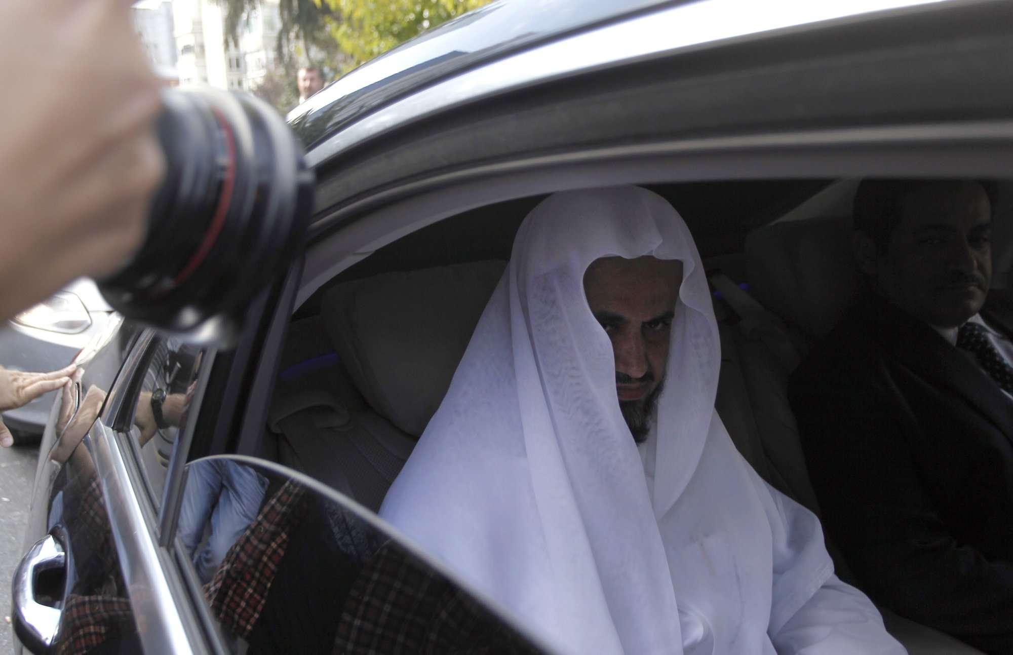 Los informes de los medios turcos dicen que el principal fiscal de Arabia Saudita, que se encuentra en Estambul para discutir sobre el asesinato del escritor saudita Jamal Khashoggi. AP