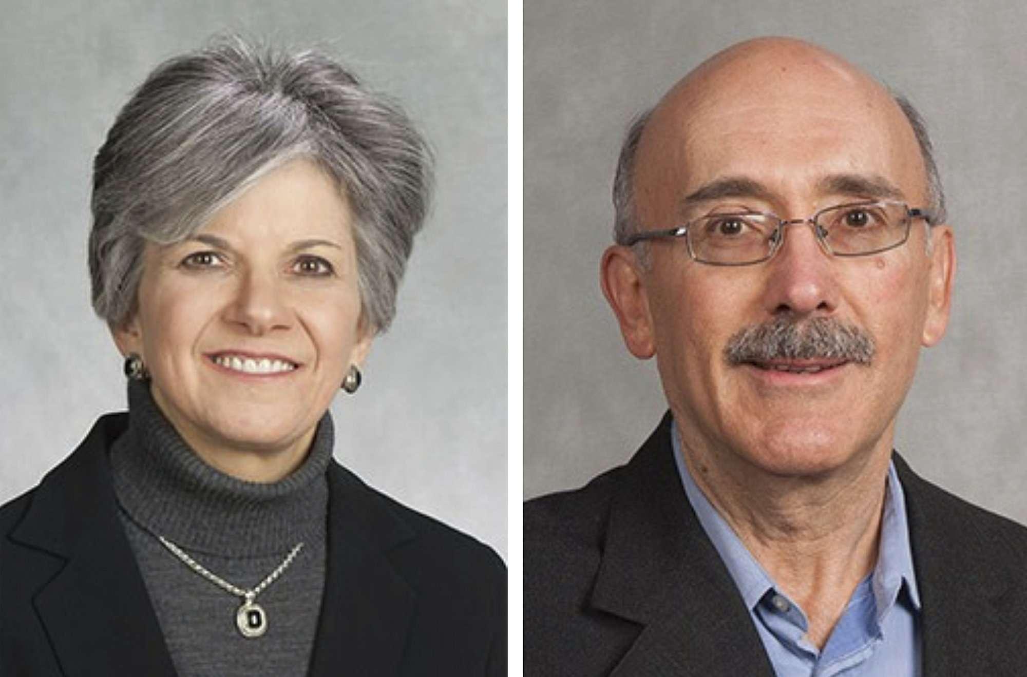 Estas fotos muestran a Susan Brill de Ramirez, izquierda, y Antonio Ramirez Barron.  AP