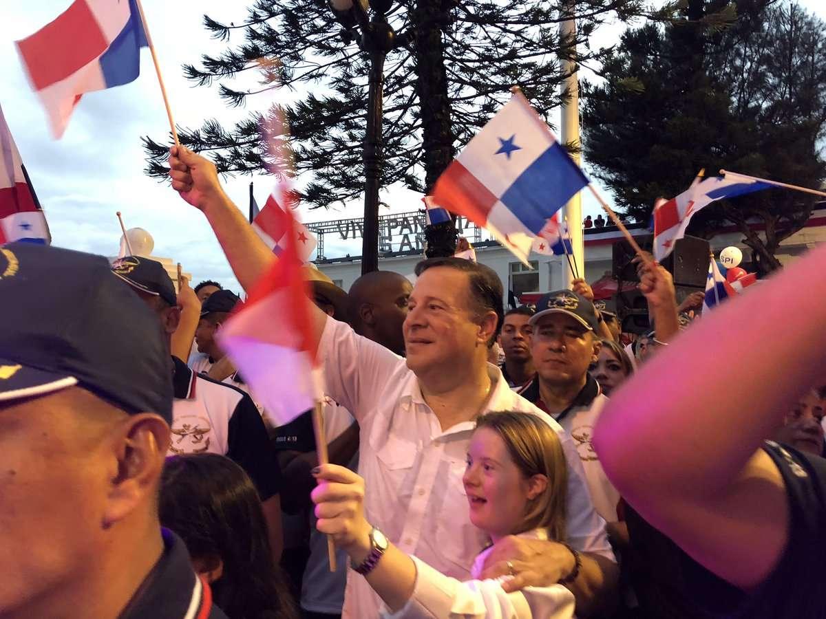 El presidente de la República brindo declaraciones sobre las actividades de este 5 de noviembre en Colón. Foto: Cortesía