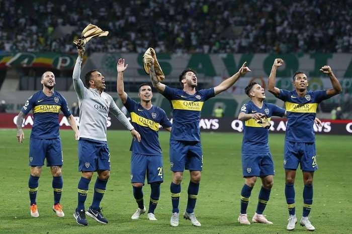 Los jugadores de Boca Juniors eliminaron al Palmeiras. /AP