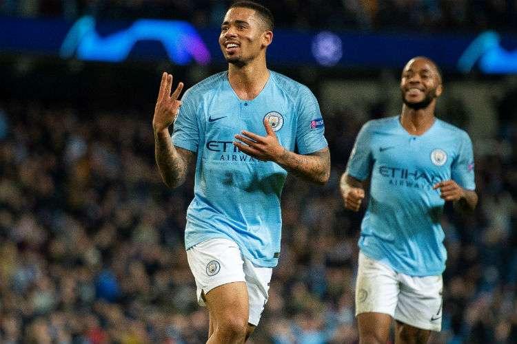 Gabriel Jesús anotó tres de los seis goles del Manchester City. Foto: AP