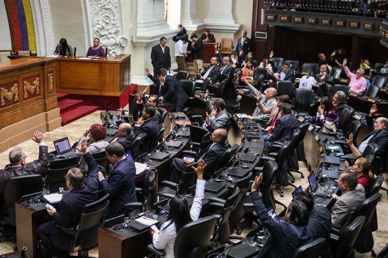 Vista general durante una sesión de la Asamblea Nacional (AN) en Caracas (Venezuela). EFE/Archivo