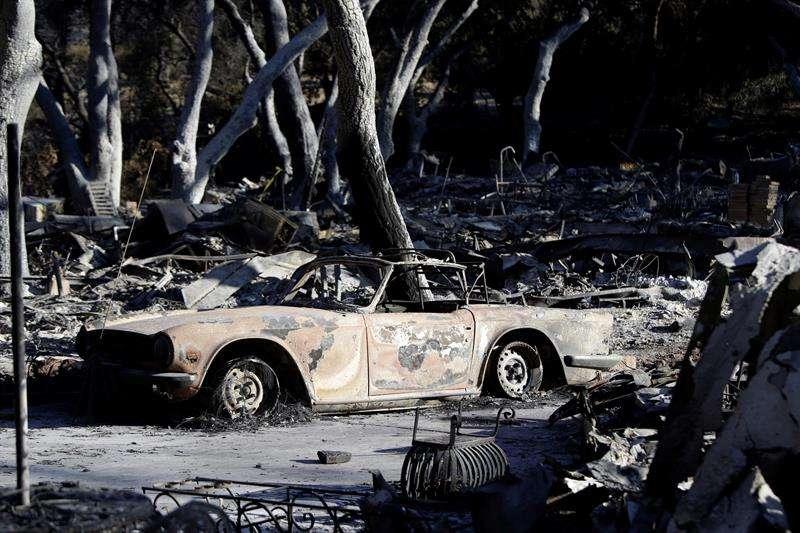 La mayoría de los desaparecidos reside en la población de Paradise, de 26.000 habitantes y que fue completamente engullida por las llamas. EFE/Archivo
