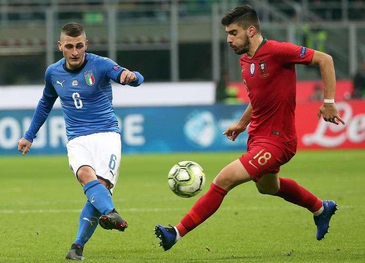 Portugal aguantó la presión de una Italia que dominó el partido en la primera hora . Foto: EFE