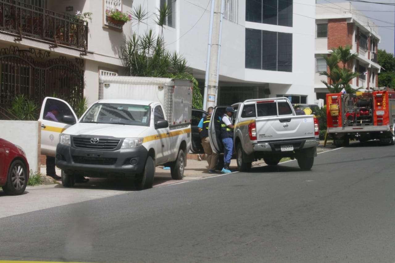 Vista general de las diligencias realizadas por las autoridades luego del suceso. Foto: Edwards Santos