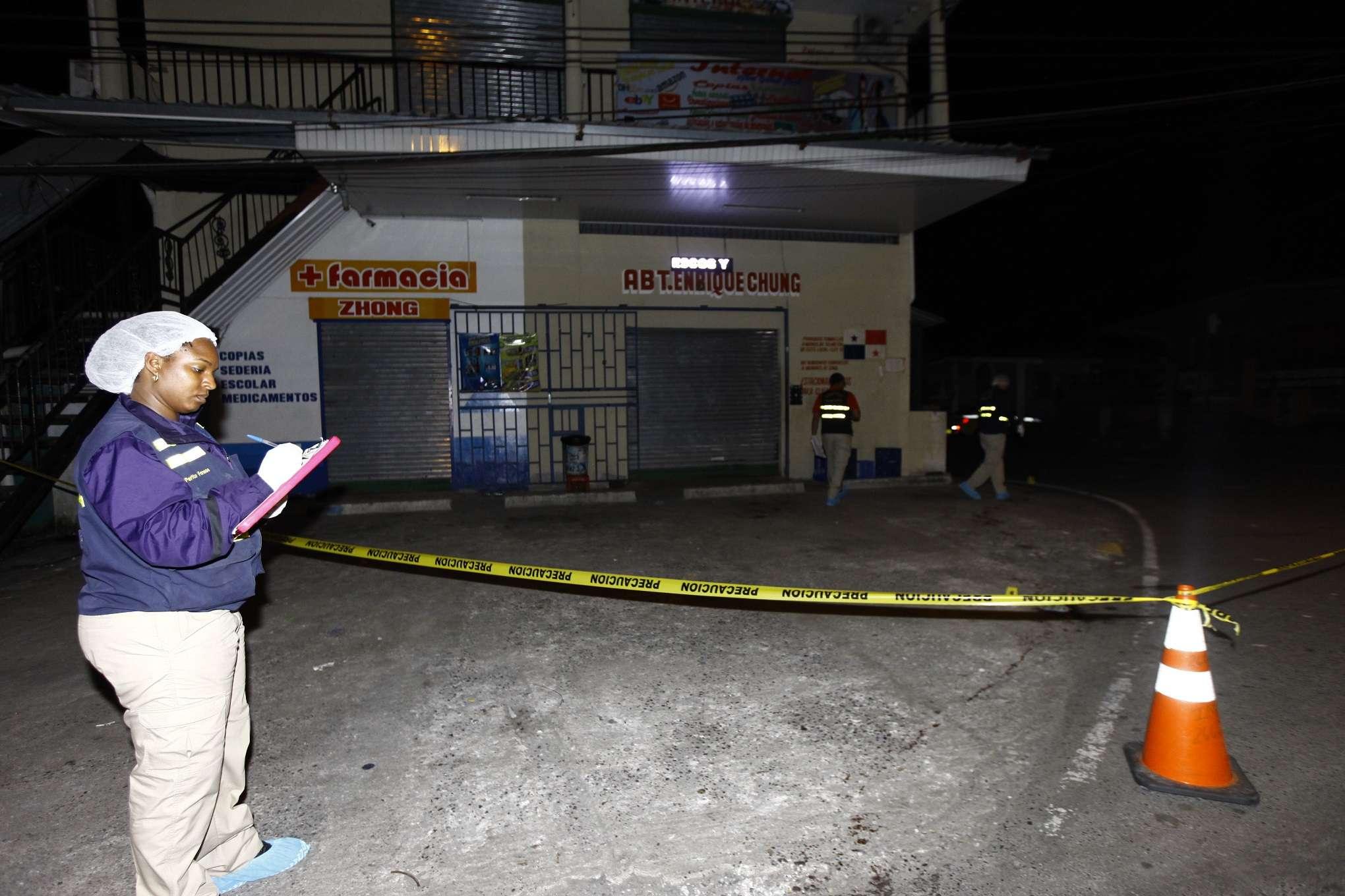 Vista general de la escena del crimen. Foto: Jorge Luis Barría