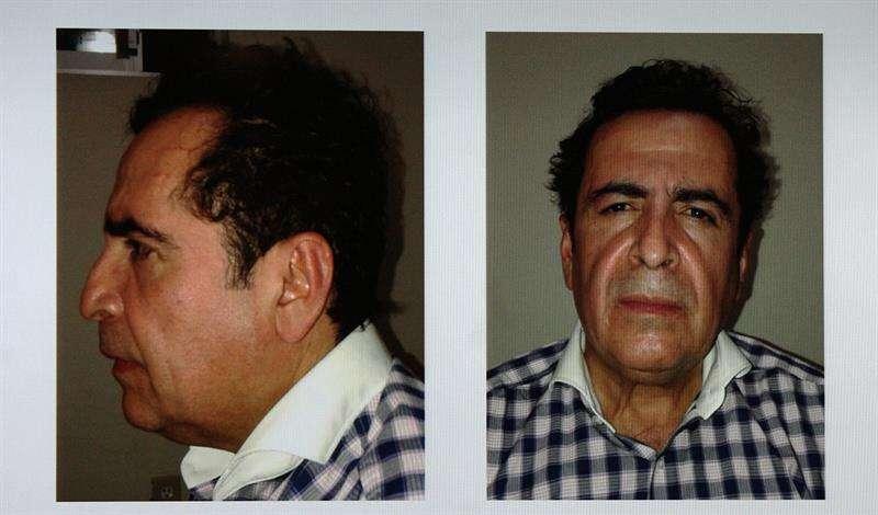 Reproducción fotográfica de un combo de imágenes presentadas por la Procuraduría General de la República, que muestran al capo Héctor Beltrán Leyva el miércoles 1 de octubre de 2014, en Ciudad de México (México). EFE