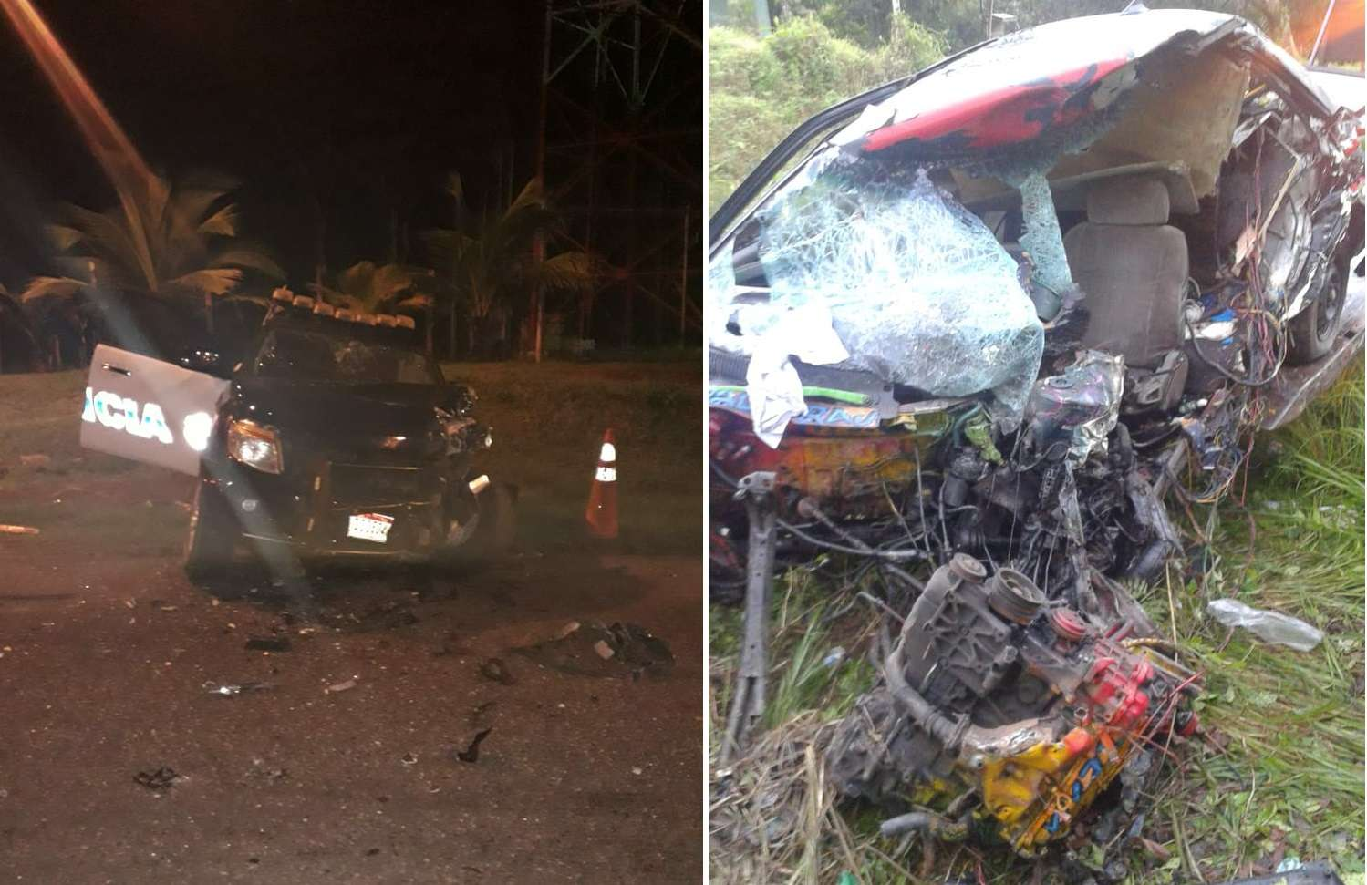 Vista general de la condición en la que quedaron los vehículos involucrados. Fotos: @TraficoCPanama