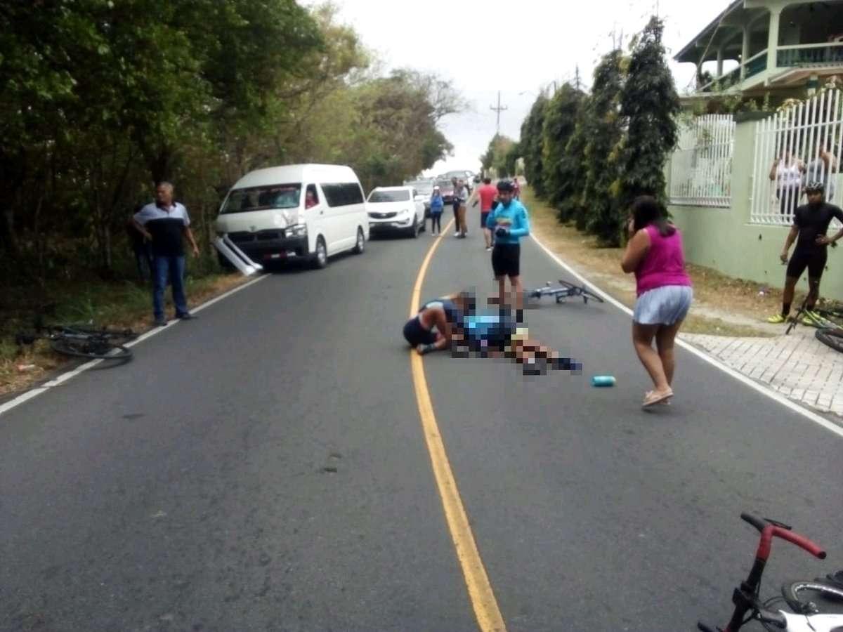 Vistas del accidente de tránsito. Foto: @TraficoCPanama