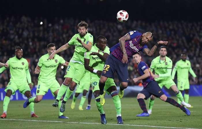 El conjunto del FC Barcelona le pasó por encima al Levante./EFE