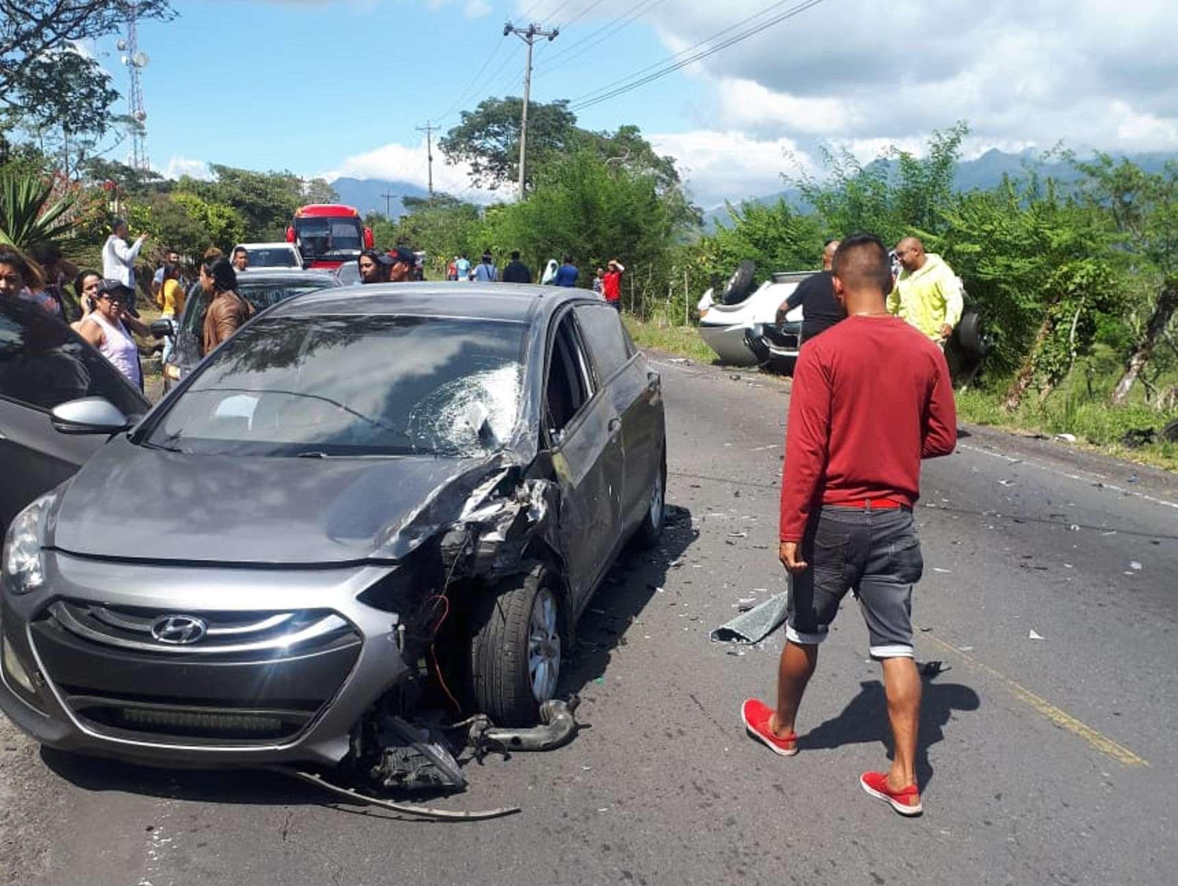 Vista general del área del accidente. Foto: @TraficoCPanama