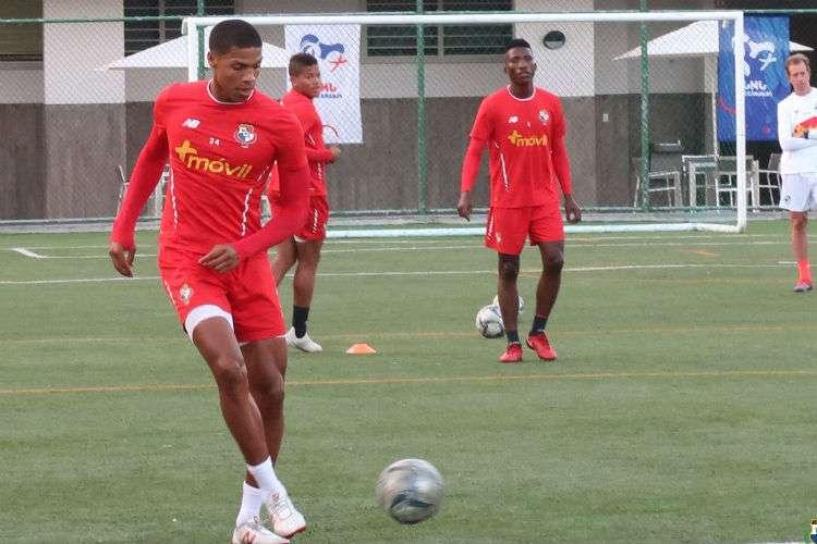Entrenamiento de hoy miércoles de la Selección de Fútbol de Panamá. Foto: Fepafut