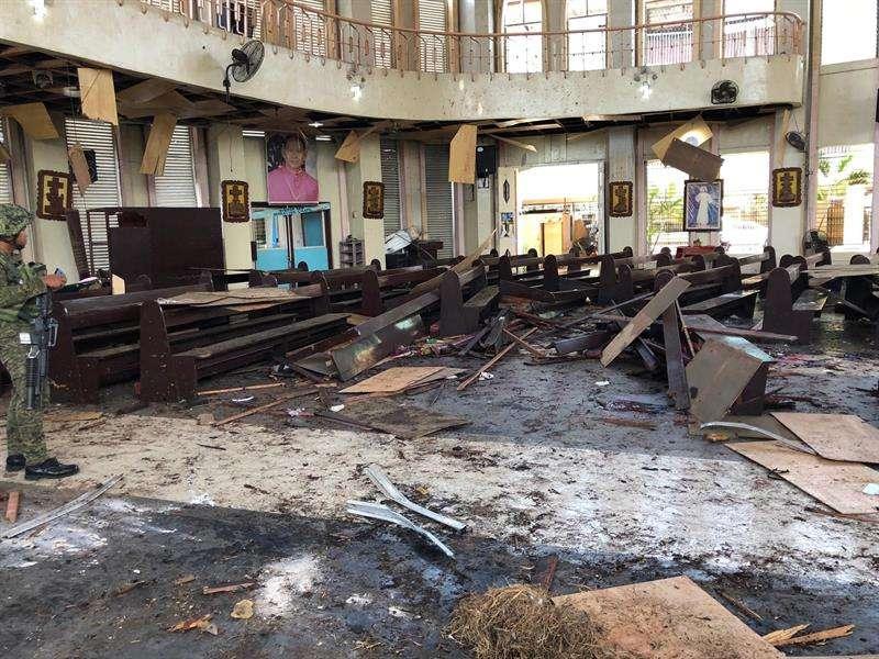 Dos explosiones se registraron hoy en la catedral de la ciudad de Jolo, en el sureste de Filipinas. EFE