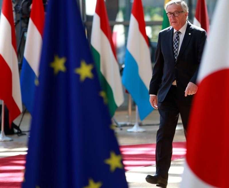 El presidente de la Comision Europea, Jean-Claude Juncker,en una cumbre bilateral de la Unión Europea y Japón. EFE/Archivo