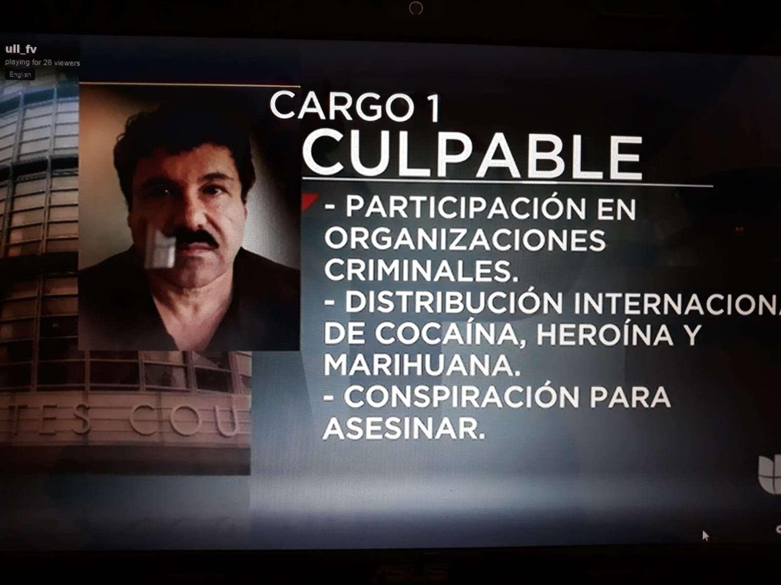 Así informan sobre la audiencia de El Chapo, las cadenas internacionales