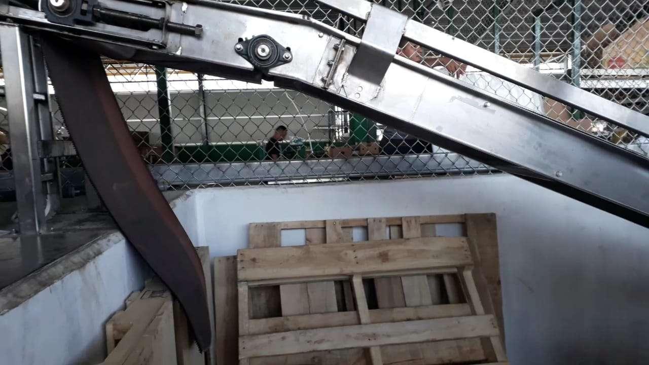 Vista general de la máquina en la que quedó atrapado el menor en  la empresa Banapiña. Foto: José Vásquez