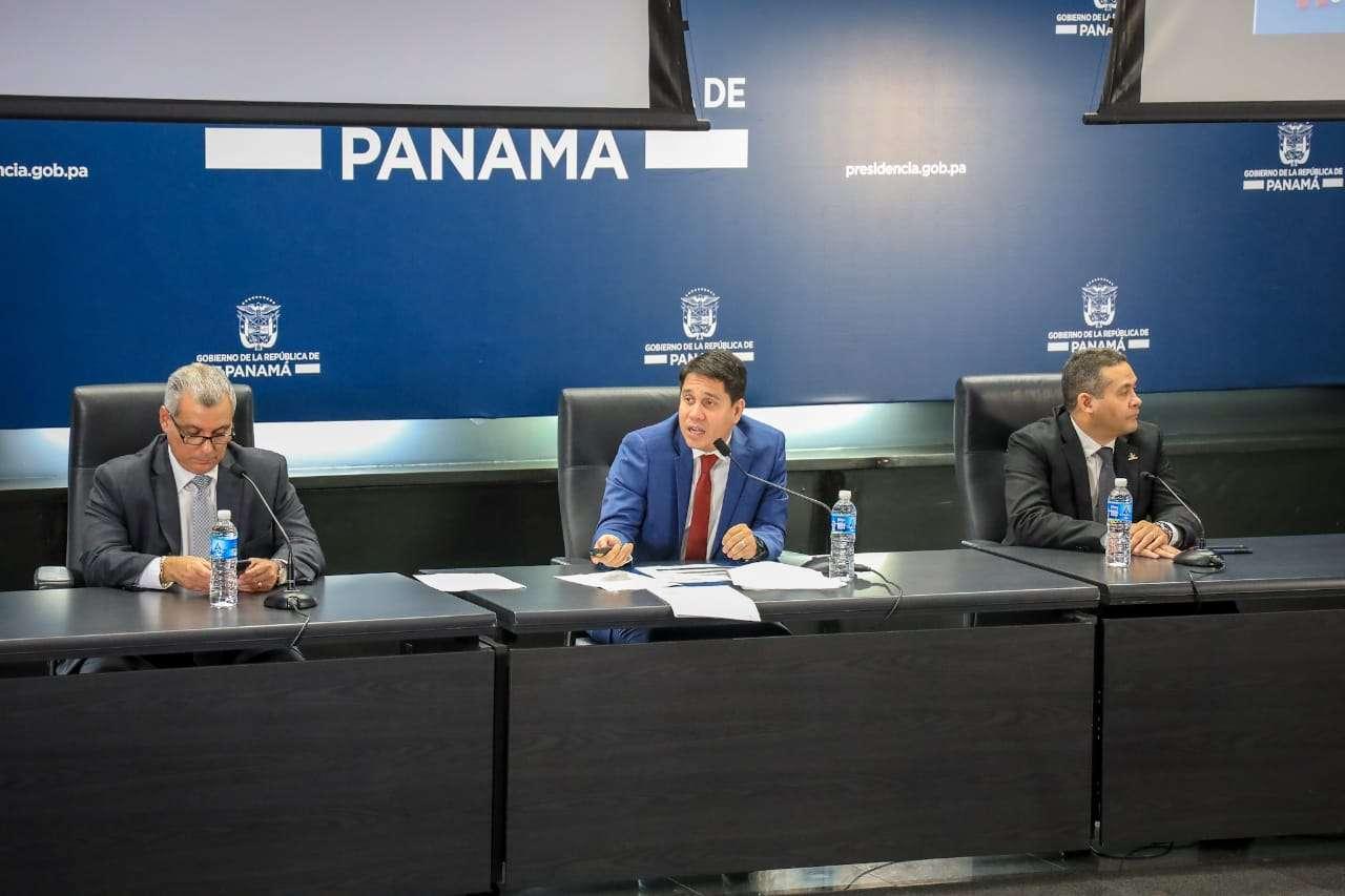 Mario Pérez durante la conferencia de prensa sobre su rendimiento de cuentas de Pandeportes. Foto: Pandeportes