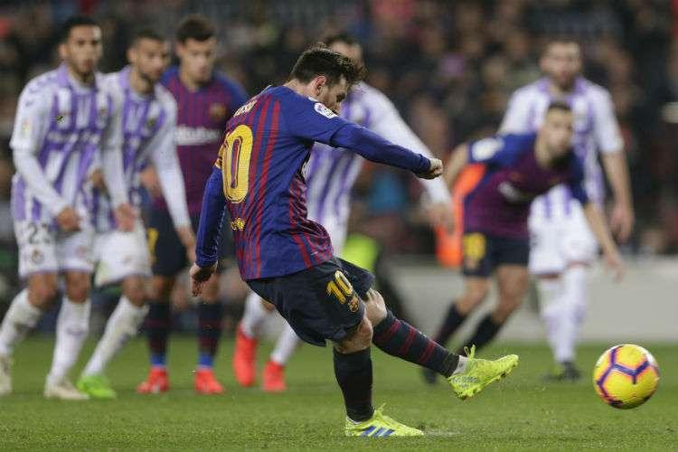Lionel Messi, Barcelona, Valladolid, Liga Española, fútbol