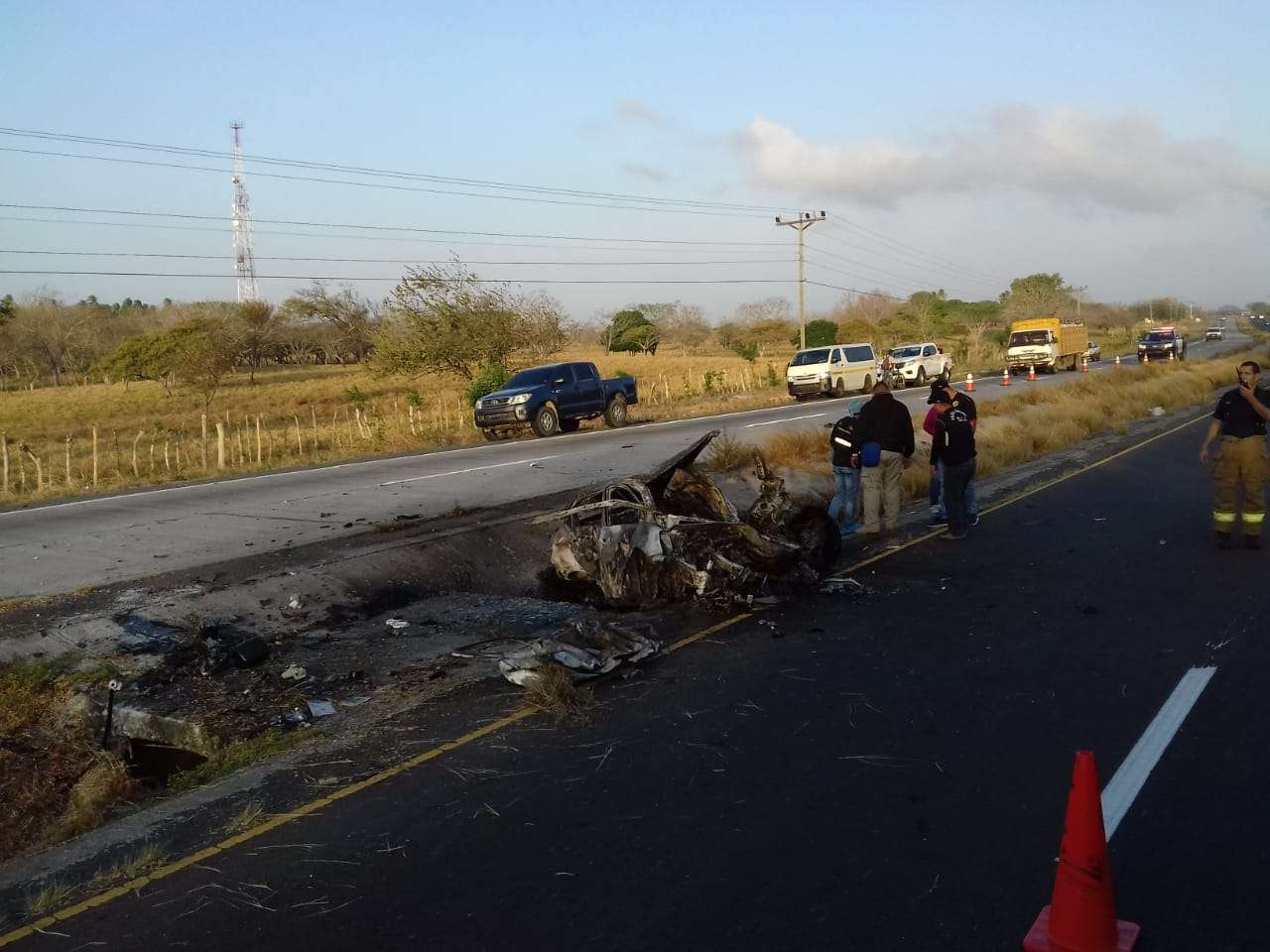 Vista general de la escena del accidente. Foto: @TraficoCPanama