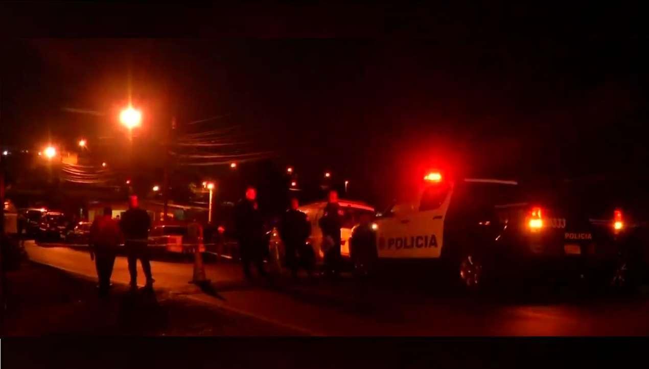 Vista general de la escena del homicidio en Samaria.