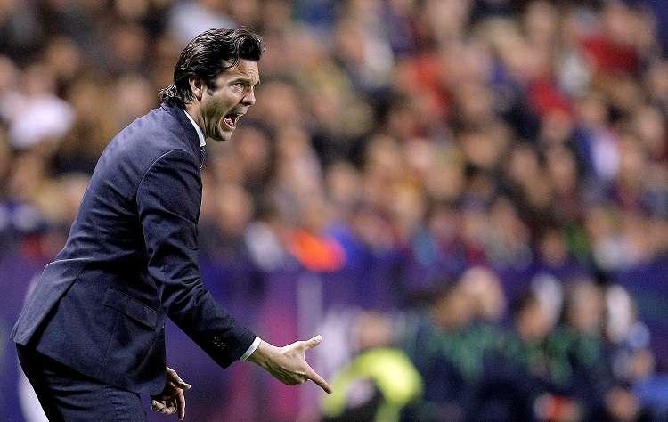 El técnico argentino del Real Madrid, Santiago Solari. Foto:EFE