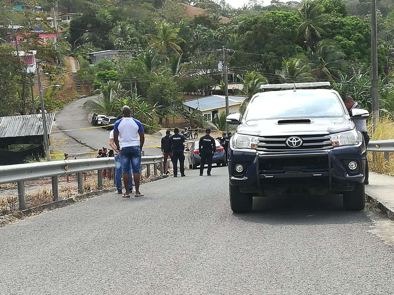 Vista general de la escena del crimen en Cativá. Foto: Diómedes Sánchez