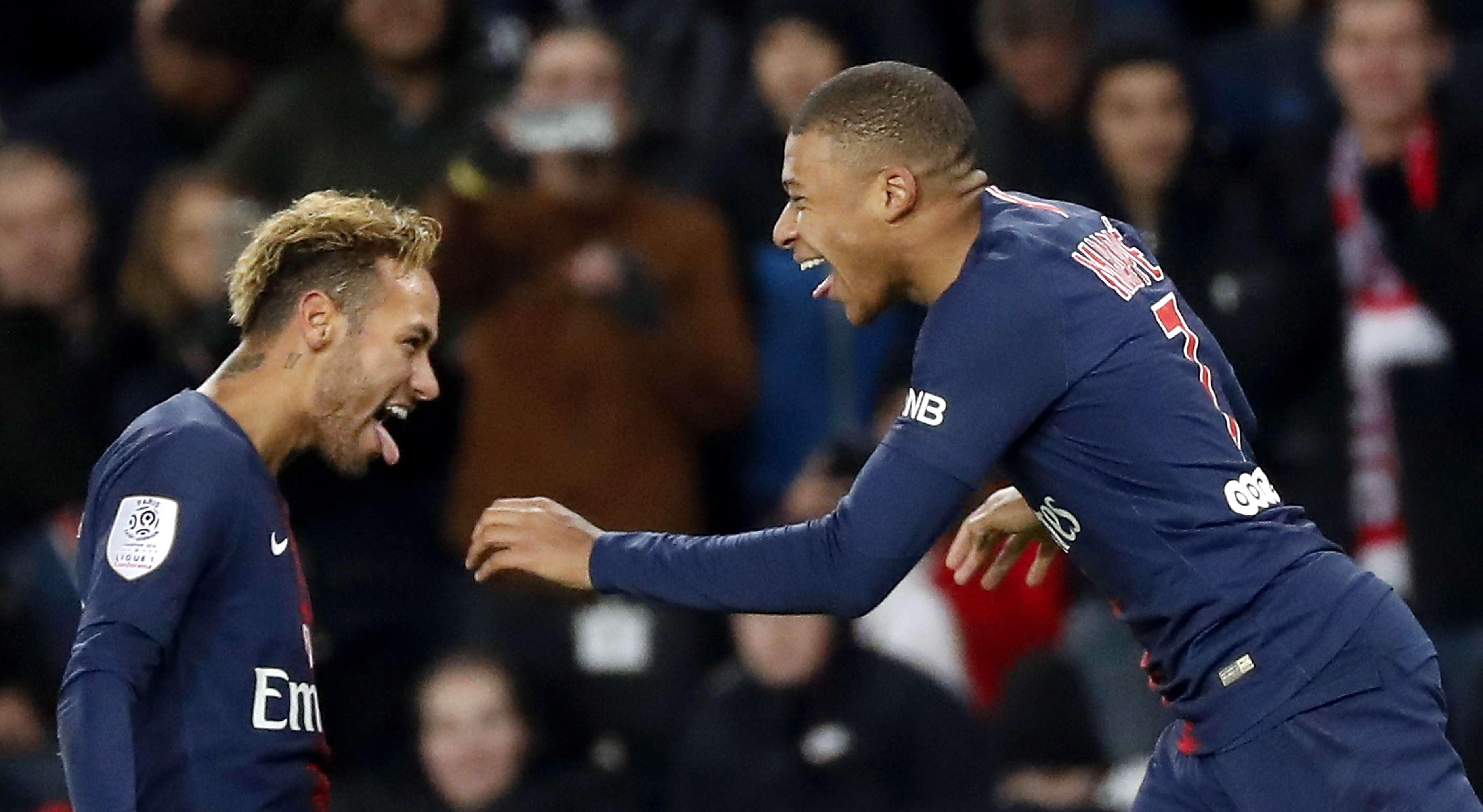 Neymar y Mbappé, figuras del PSG. /EFE