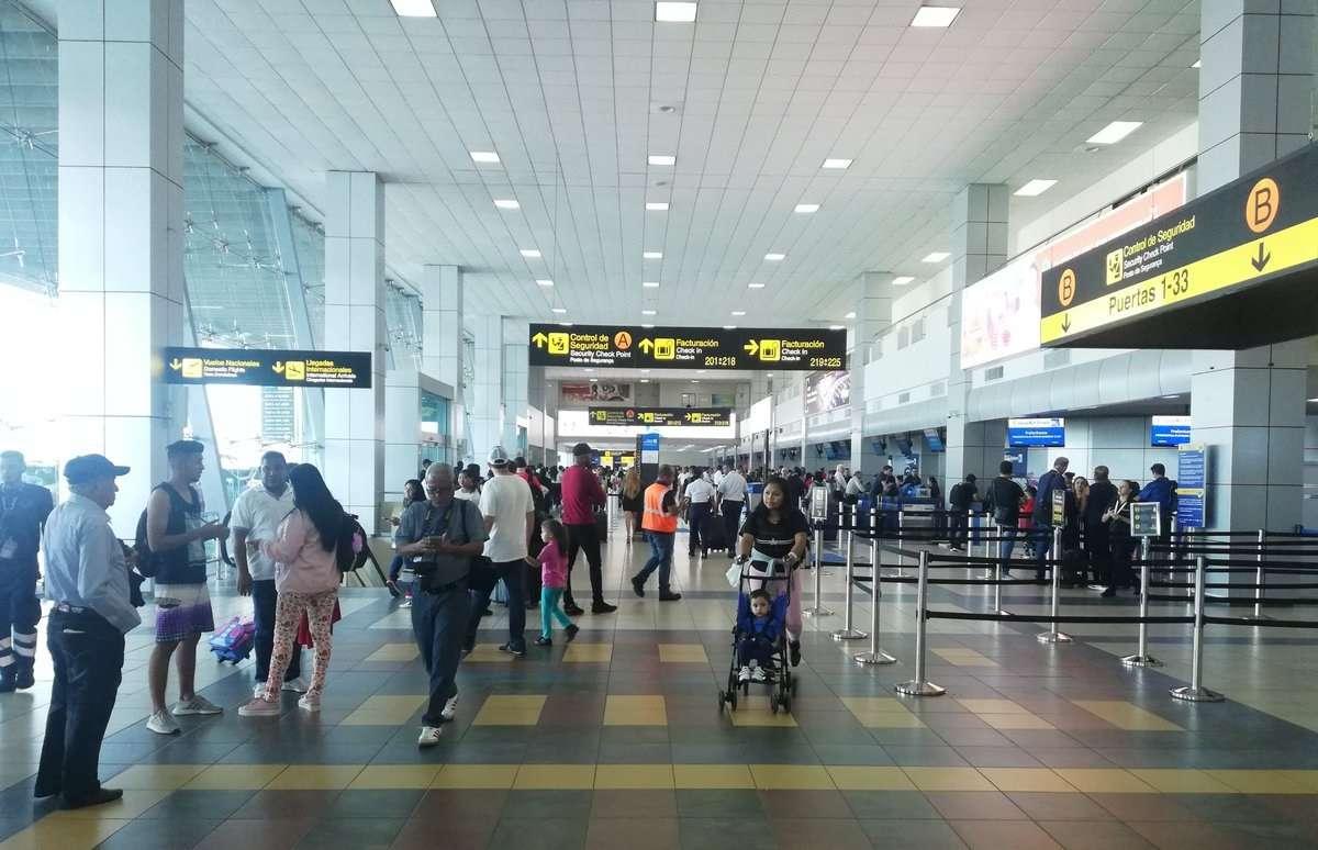 Vista interna de las instalaciones del Aeropuerto Internacional de Tocumen.