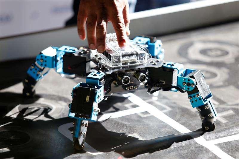 Fotografía fechada el 22 de marzo de 2019, que muestra robots la onceava edicion del Torneo Mexicano de Robótica, en la ciudad de Guadalajara en el estado de Jalisco (México). EFE
