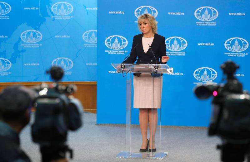 María Zajárova, portavoz del Ministerio de Asuntos Exteriores ruso. EFEArchivo