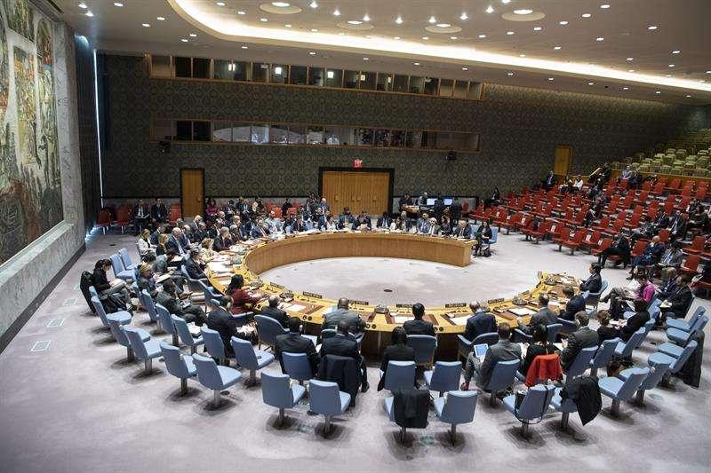 Fotografía cedida por la ONU donde aparece el pleno del Consejo de Seguridad durante una reunión en la sede del organismo en Nueva York (EE.UU.). EFE