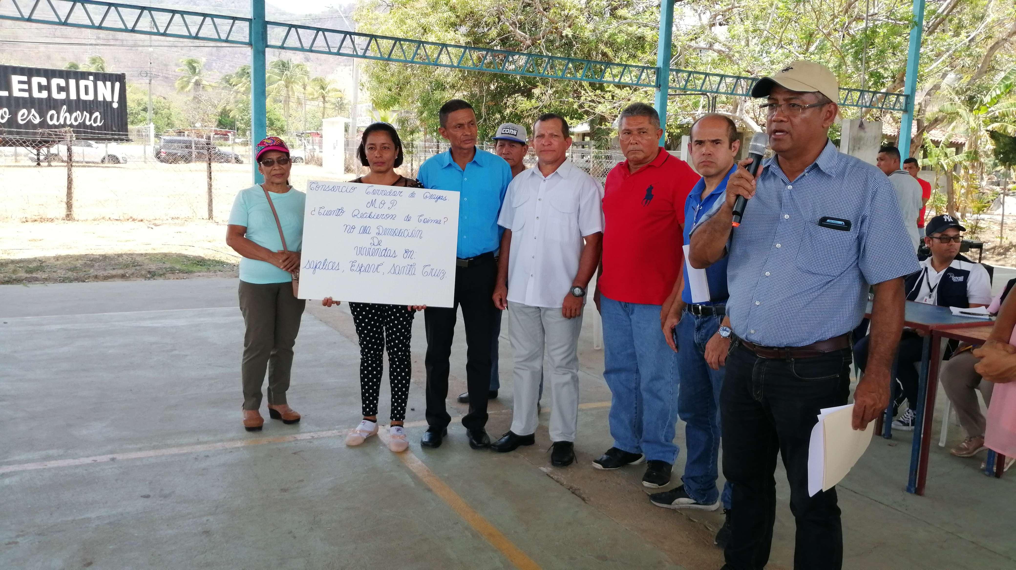 Moradores de Chame piden revisión de ruta del corredor de palyas. Foto. Eric Ariel Montenegro.