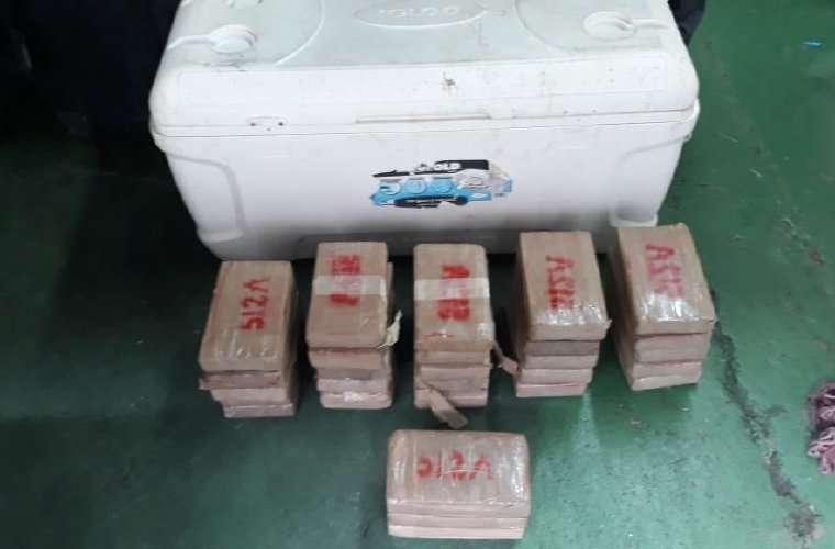 Los paquetes rectangulares tenían una codificación 512A. Foto: Redes Sociales