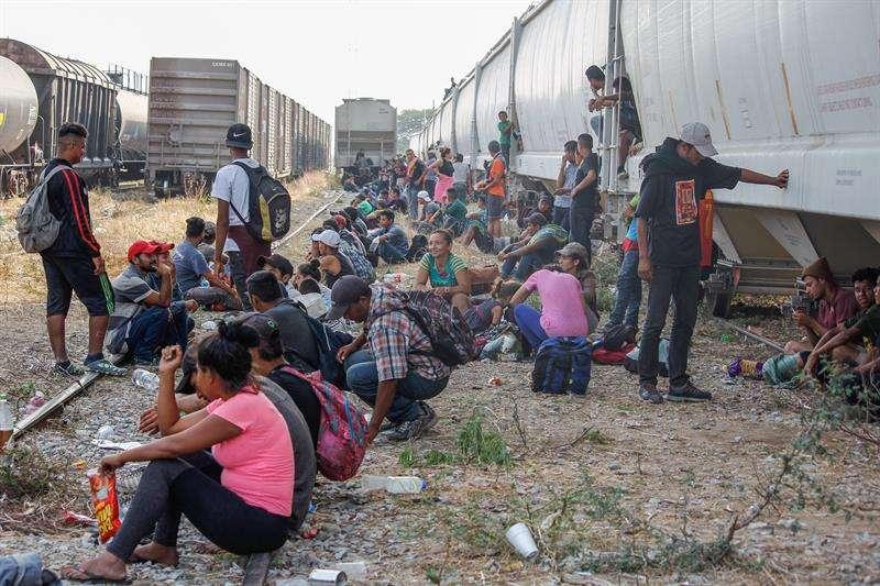 Imágenes de migrantes en México. Foto/ EFE