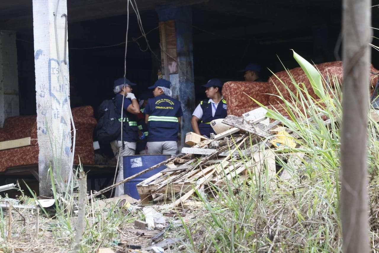 Escena del hallazgo del cadáver. Foto/ Edwards Santos