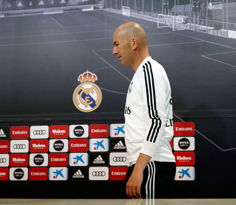 Zinedine Zidane, técnico del Real Madrid. /Efe