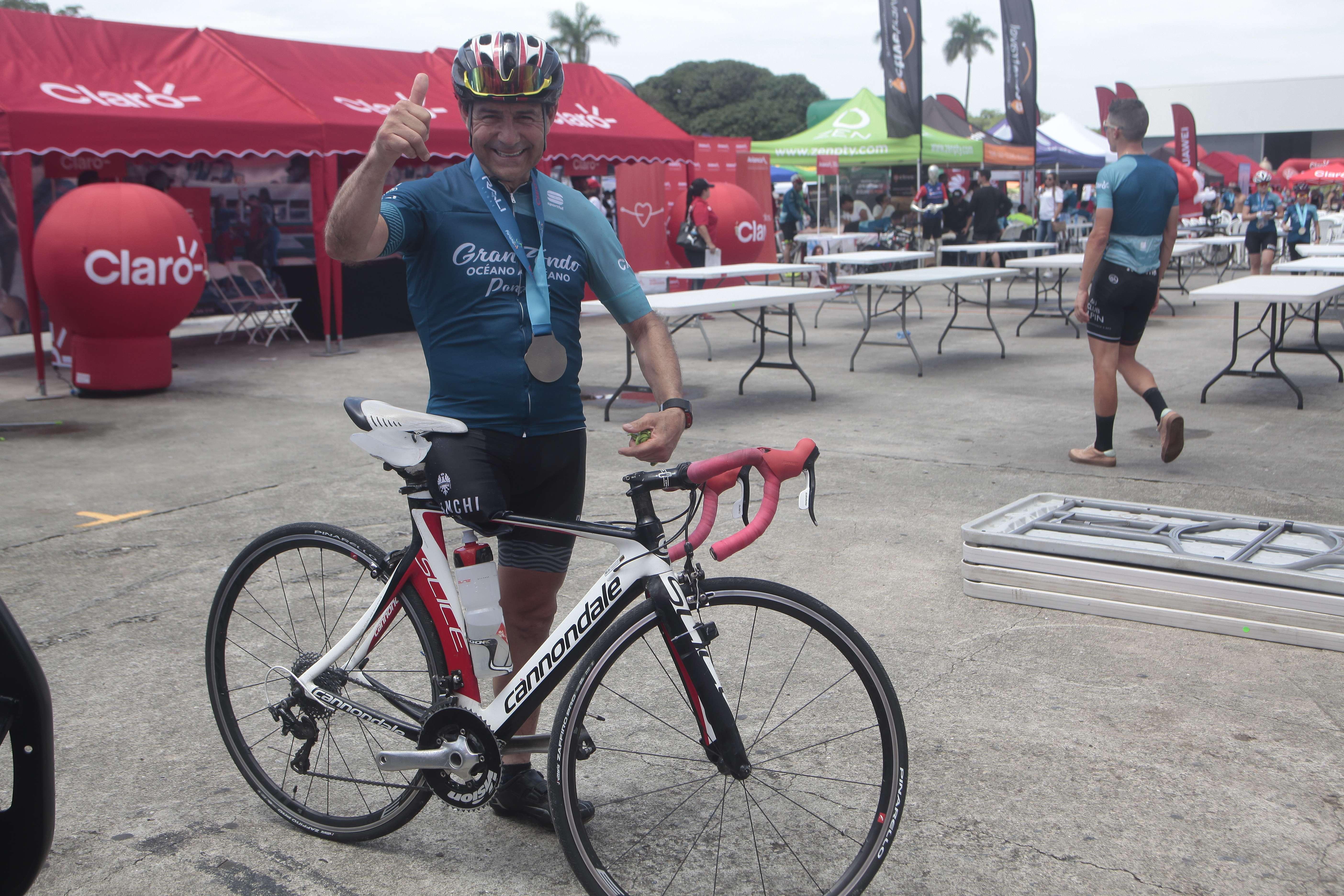 El ciclista colombiano Pedro Fonseca López. Foto: Víctor Arosemena