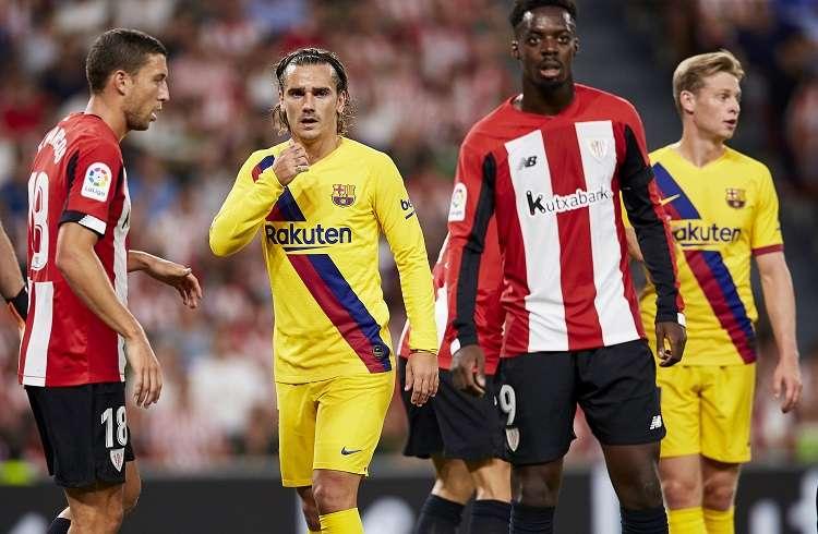 Antoine Griezmann no pudo ser la solución azulgrana ante la ausencia de Messi. Foto: AP