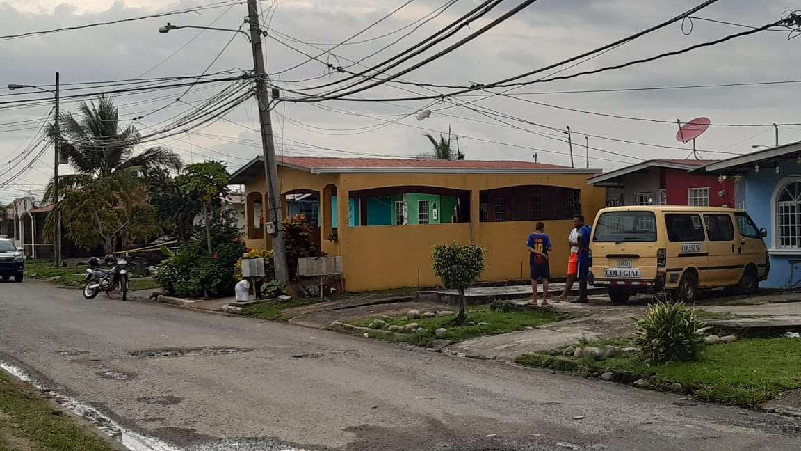 Área del asesinato en Nuevo Tocumen. Foto/ Edwards Santos