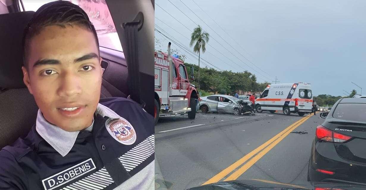 En uno de los vehículos accidentado viajaban varias unidades de la Policía Nacional