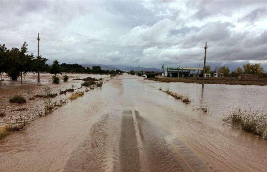 Diputación de Albacete de las inundaciones en la localidad albaceteña de Caudete, en Castilla-La Mancha, este jueves, tras el paso de la Gota Fría por la región. EFE